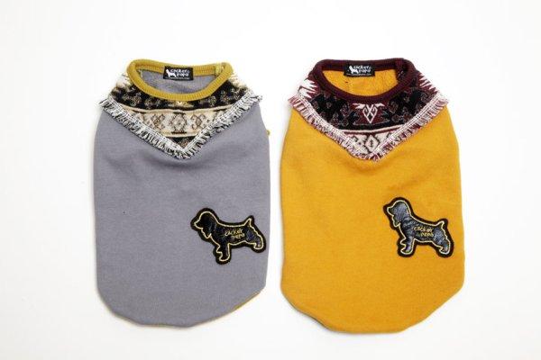 画像1: [犬服Tシャツ]スカーフフリンジT(XS〜XL) (1)