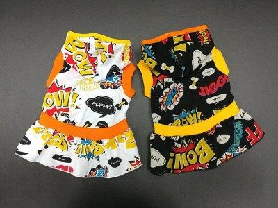 画像3: 「犬服フードTシャツ」 コミックフードTシャツ(XS〜XL)即日出荷出来ます!